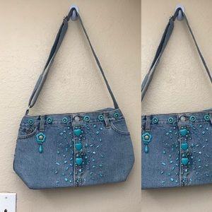 Levi's Custom Beaded Handbag
